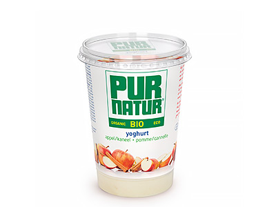 Pur Natur Apple & cinnamon organic yogurt 500g