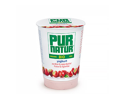 Pur Natur organic Strawberries & rosehip yogurt 500g
