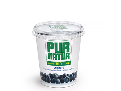 Pur Natur Fruit yogurt full of blueberries 700g