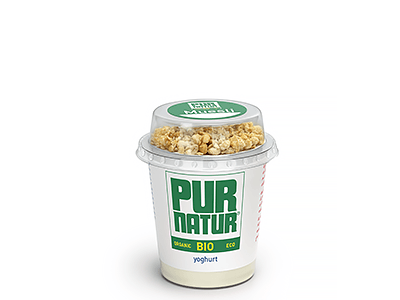 Organic natural yogurt with muesli 160g from Pur Natur